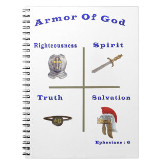 Armor of God products Spiral Note Books