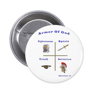 Armor of God t-shirts and more Pinback Buttons