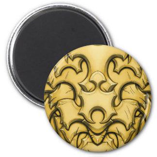 Armored (Brass) 6 Cm Round Magnet