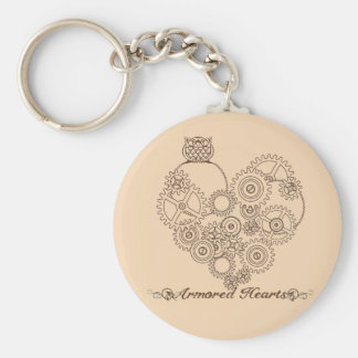 Armored Hearts Steampunk Keychain