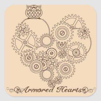 Armored Hearts Steampunk Stickers