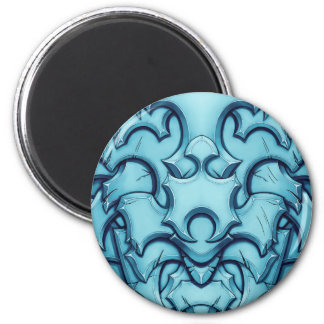 Armored (ice) 6 cm round magnet