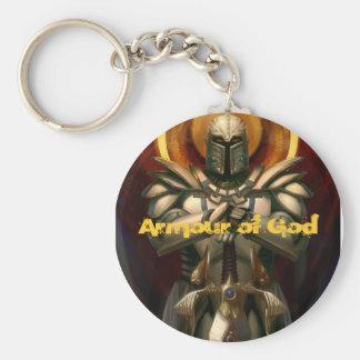 Armour of God Basic Round Button Key Ring