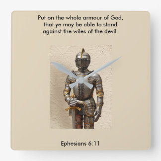 Armour of God Clock w/Armour