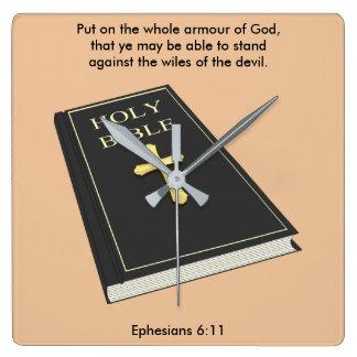 Armour of God Clock w/Bible