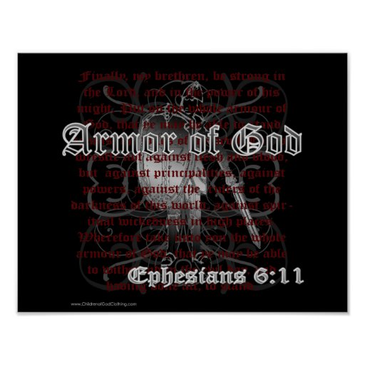 Armour of God Ephesians 6:11 Poster Print