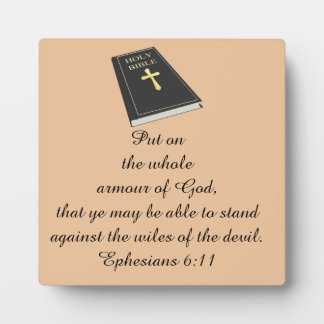 Armour of God Photo Plaque Square w/Bible