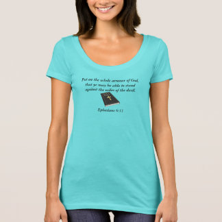 Armour of God Scoop Neck T-Shirt w/Bible