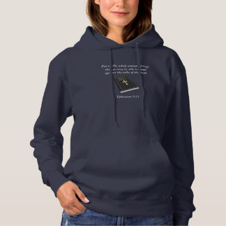 Armour of God Women's Hoodie w/Bible