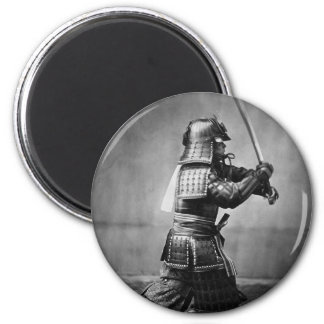 Armoured Samurai with Sword and Dagger in 1860 Magnet