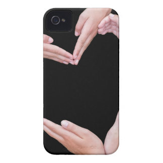 Arms and hands of girls making heart shape Case-Mate iPhone 4 cases