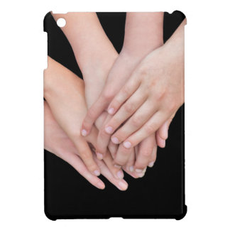 Arms of girls with hands over each other iPad mini covers