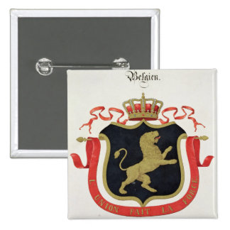 Arms of the Belgian Royal Family, from a collectio 15 Cm Square Badge