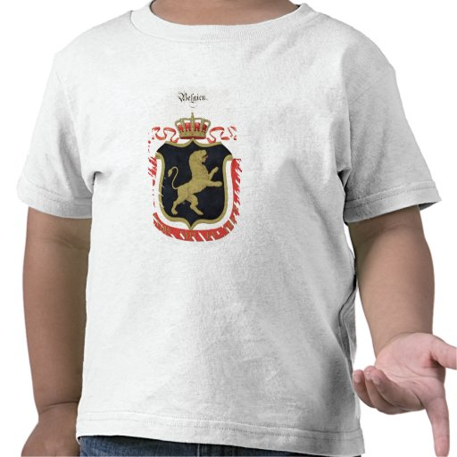 Arms of the Belgian Royal Family, from a collectio Tshirt