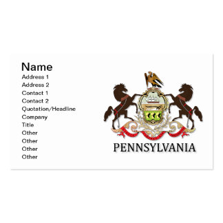 Arms of the state of Pennsylvania Business Card Templates