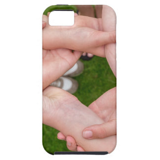 Arms with hands of girls holding each other iPhone 5 case