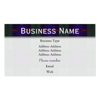 Armstrong clan Plaid Scottish tartan Pack Of Standard Business Cards