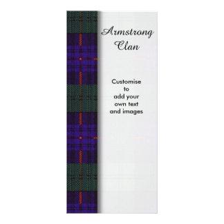 Armstrong clan Plaid Scottish tartan Full Colour Rack Card