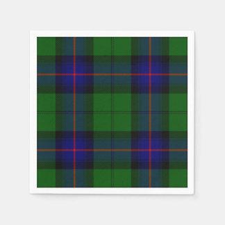 Armstrong clan tartan blue green plaid disposable napkins