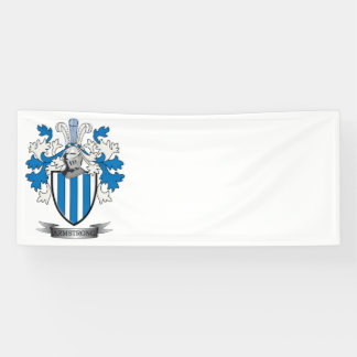 Armstrong Family Crest Coat of Arms Banner