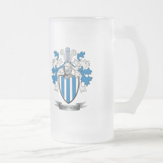 Armstrong Family Crest Coat of Arms Frosted Glass Beer Mug