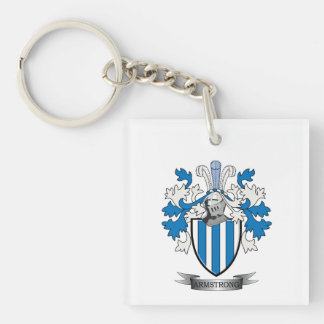 Armstrong Family Crest Coat of Arms Key Ring