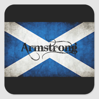 armstrong grunge flag square sticker