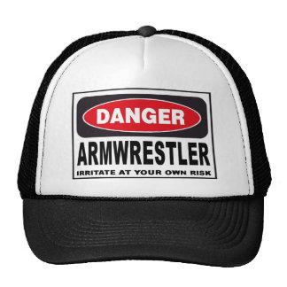 Armwrestler Danger Sign Cap