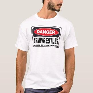 Armwrestler Danger Sign T-Shirt