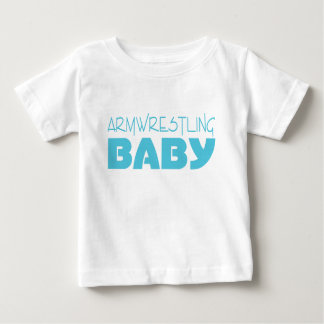 Armwrestling Baby (Blue) Baby T-Shirt