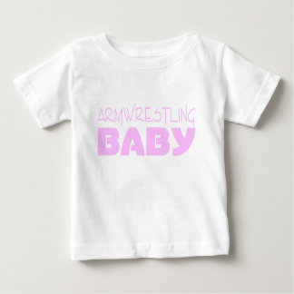 Armwrestling Baby Wear (Pink) T Shirts