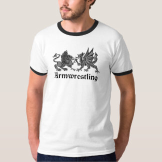 Armwrestling Heraldry Gryphon & Dragon T-Shirt