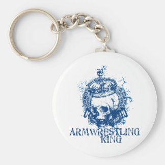 Armwrestling King Basic Round Button Key Ring