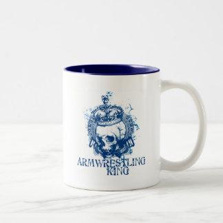 Armwrestling King Two-Tone Coffee Mug