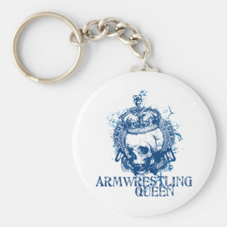 Armwrestling Queen Basic Round Button Key Ring
