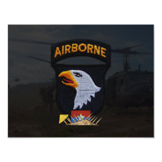 army 101st airborne division nam patch card