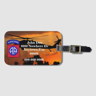 Army 82nd ABN DIV airborne division Veterans Vets Luggage Tag