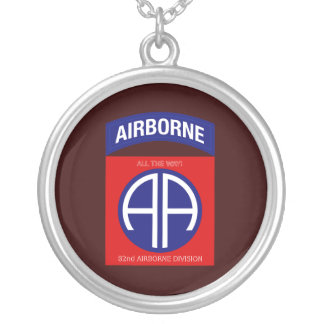 Army 82nd Airborne Division Silver Plated Necklace