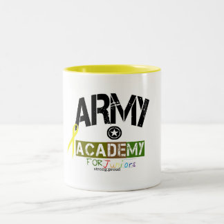 army academy for kids Two-Tone coffee mug