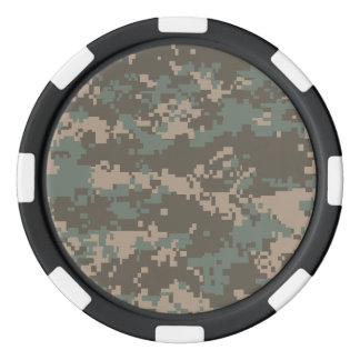 Army ACU Camoflage Poker Chips