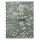 Army ACU Camouflage Customisable Notebook