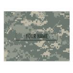 Army ACU Camouflage Customisable Postcard