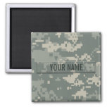 Army ACU Camouflage Customisable Square Magnet