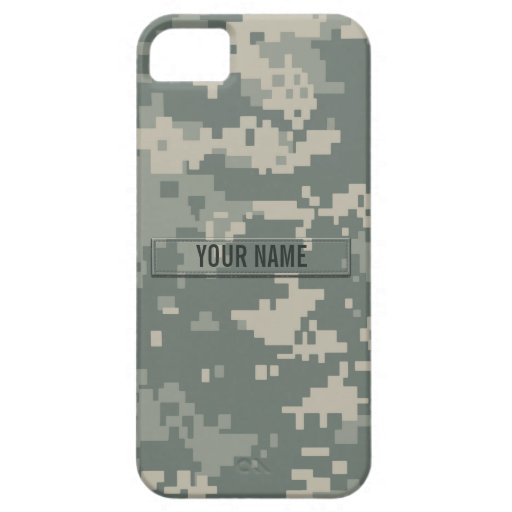 Army ACU Camouflage Customizable Case For iPhone 5/5S