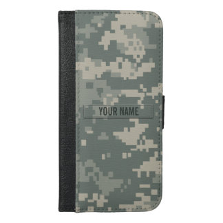 Army ACU Camouflage Customizable iPhone 6/6s Plus Wallet Case