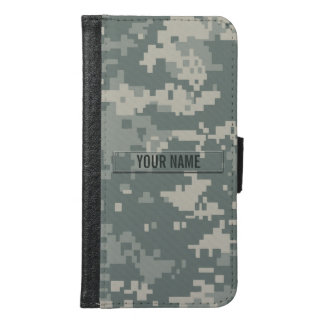 Army ACU Camouflage Customizable Samsung Galaxy S6 Wallet Case