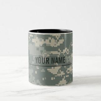 Army ACU Camouflage Customizable Two-Tone Coffee Mug