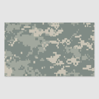 Army ACU Camouflage Rectangular Sticker