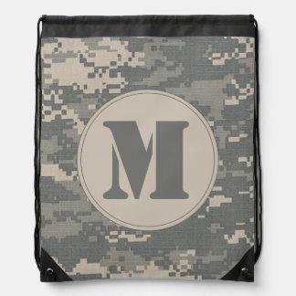 ARMY ACU Digital Camo Camoufl Draw String Bag Sack