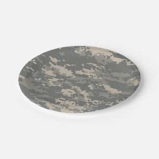 ARMY ACU Digital Camo Camouflage Paper Plates